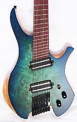 Agile Chiral Parallax 72527 Satin Green / Blue Headless Guitar