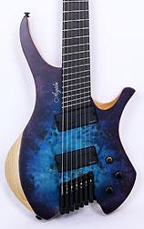 Agile Chiral Nirvana 72527 MOD Satin Blue / Purple Headless Guitar