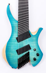 Agile Chiral Nirvana 82528 EB MOD SS Oceanburst Flame Headless Guitar B Stock