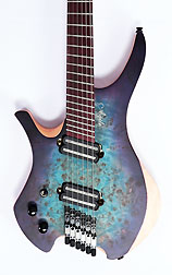 Agile Chiral Parallax 62527 Satin Blue / Purple Left Handed Headless Guitar Advanced Order
