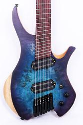 Agile Chiral Parallax 72527 Satin Blue / Purple Headless Guitar