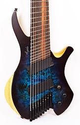 Agile Chiral Parallax 92528 EB EMG SS Satin Blue / Purple Headless Guitar Advanced Order 12/17