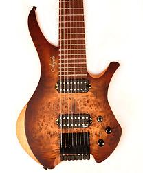 Agile Chirality 827 BBR Headless Guitar
