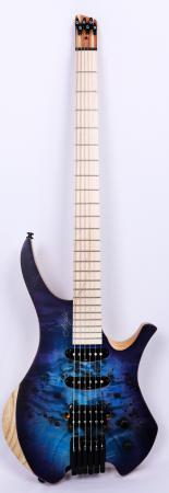 Agile Chiral Parity 628 MN HSS SS Blue / Purple Burst Baritone Guitar