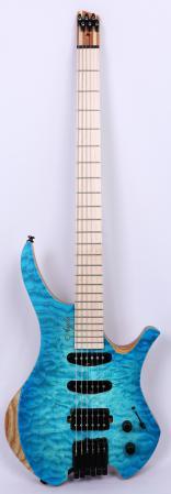 Agile Chiral Parity 628 MN HSS SS Oceanburst Quilt Guitar