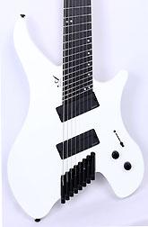 Agile Geodesic Pro 82528 EB MOD SS White Headless Fan Fret Guitar Advanced Order 12/20