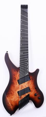 Agile Geodesic Pro 82528 EB MOD SS BBR Headless Fan Fret Guitar Advanced Order 12/20