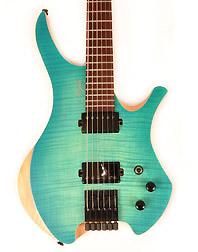 Agile Chirality 627 Oceanburst Flame Headless Guitar