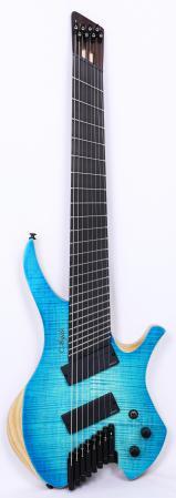 Agile Chiral Nirvana 82528 EB MOD SS Oceanburst Flame Headless Guitar