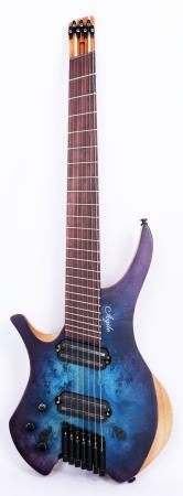 Agile Chiral Parallax 72527 Satin Blue / Purple Left Handed Headless Guitar