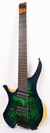 Agile Chiral Parallax 72527 Satin Green / Blue Left Handed Headless Guitar Advanced Order 12/17