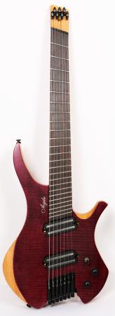 Agile Chiral Parallax 72527 Purple Flame Headless Guitar Advanced Order 12/17