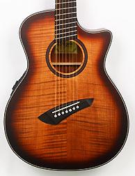 Agile Renaissance 72527 RN EQ TE Flame 7 String Acoustic Multi Scale Advanced Order September 17