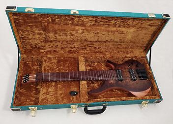 Douglas EGC-450 HD Blue-Tweed /Gold Headless Guitar Case Advanced Order