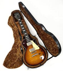 Douglas EGC-450 LP Premium Black Case with Gold Lining