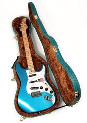 EGC-450 ST Premium Blue/Tweed Case FENDER STRAT, TELE, EPIPHONE CORONET AND MORE