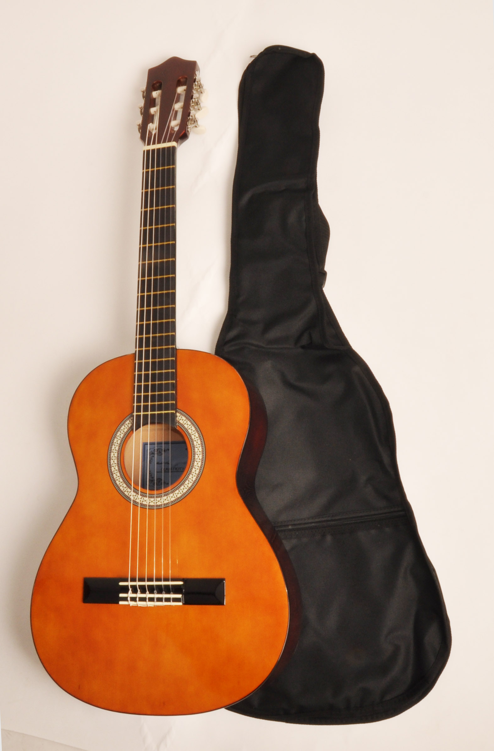 Beginner Classical Acoustic Guitar 3/4 Size (36 inch) w/Carry Bag SX Guitars Class Kit 3/4 Natural