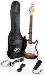 SX RST 1/2 3TS Short Scale Sunburst Guitar Pack