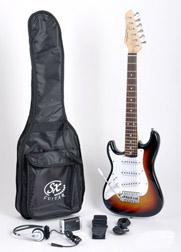 SX RST 1/2 3TS LH Short Scale Sunburst Guitar Package Left Handed