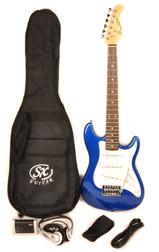 SX RST 1/2 EB Half Size Blue Guitar Pack
