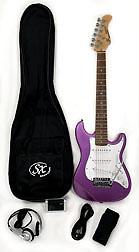 SX RST 1/2 MPP Short Scale Purple Guitar Pack