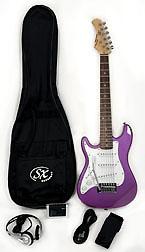 SX RST 1/2 MPP Short Scale Left Handed Purple Guitar Pack