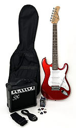SX RST 3/4 CAR Short Scale Red Guitar Pack