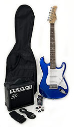 SX RST 3/4 EB Short Scale Blue Guitar Pack