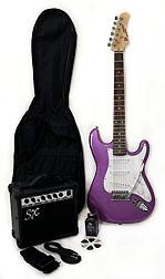 SX RST 3/4 MPP Purple Short Scale Guitar Pack