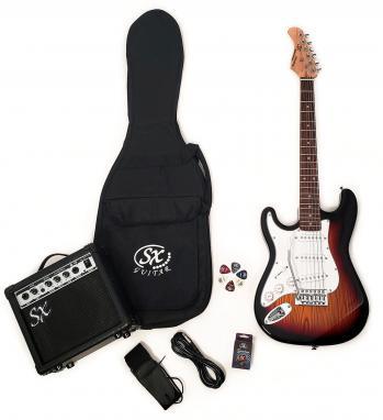 SX RST 3/4 3TS Left Handed Short Scale Sunburst Guitar Pack