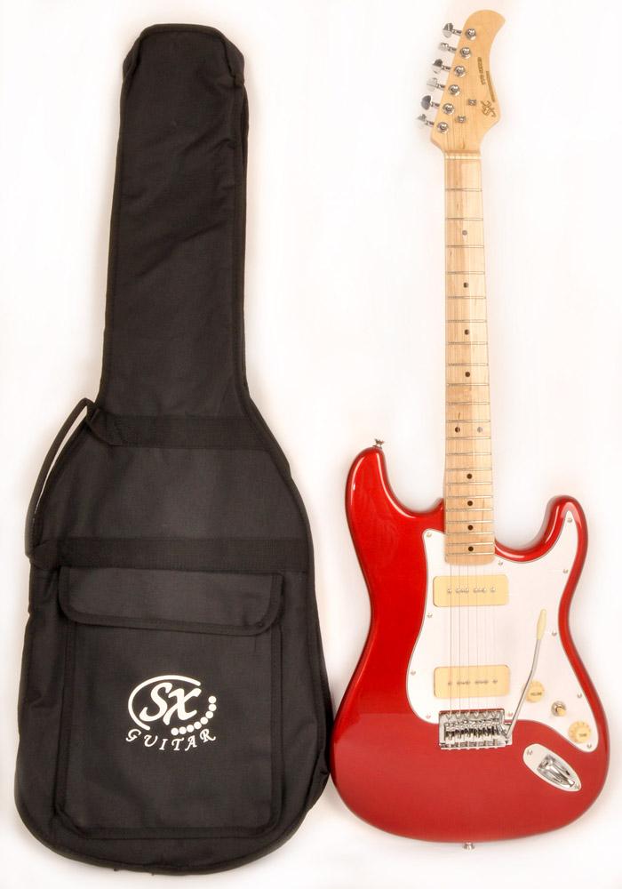 SX Hawk MN Alder P90 Candy Apple Red B Stock - RondoMusic com