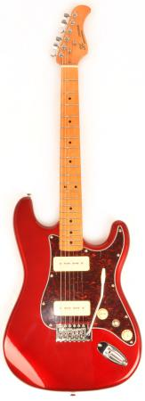 SX Hawk MN Mahogany P90 CAR Candy Apple Red Electric Guitar
