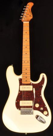 SX Hawk MN Mahogany P90 Vintage White Electric Guitar