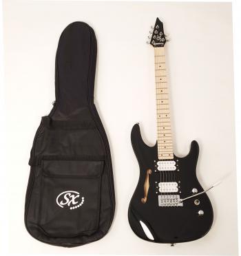 Hawk SE Mini H BK Short Scale Guitar (Semi Hollow)