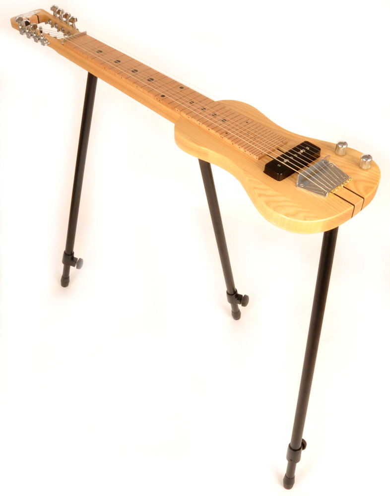SX Lap 8 Ash NA 8 String Lap Steel Guitar with Stand and Bag