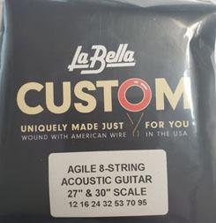 LaBella Steel String Acoustic 8 String Heavy (12-95) 27