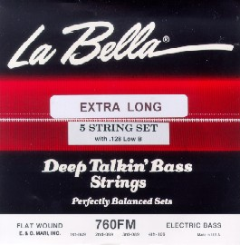 labella 760fm b xl flatwound bass strings 5 string set extra long scale. Black Bedroom Furniture Sets. Home Design Ideas