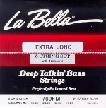 LaBella 760FM-B-XL Flatwound Bass Strings, 5-String Set, Extra Long Scale