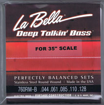 LaBella 760RM-B Extra Long Roundwound Bass Strings, 5-String Set