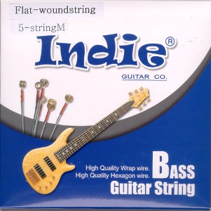 indie flatwound bass strings 5 string set extra long scale. Black Bedroom Furniture Sets. Home Design Ideas