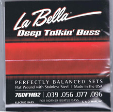 Labella 760 FHB2 39-96 Short Scale Flat Wound Strings