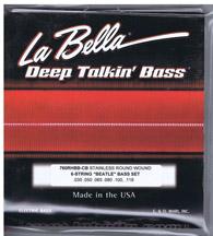 Labella 760 RHBB-CB 6 String Round Wound Short Scale Bass Set