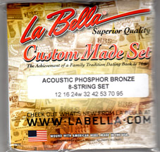 LaBella Acoustic 8 String Set Long / Heavy (12-95)