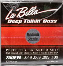 LaBella 760FM-CB Medium Scale Flatwound Bass Strings, 4-String Set