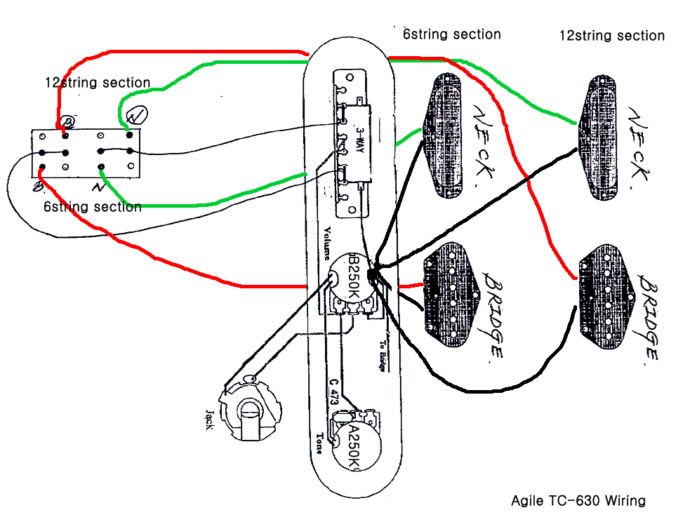Double Neck Wiring Diagram - Wiring Diagram Show on humbucker schematic, humbucker wiring book, gibson humbucker diagram, humbucker pickup diagram, humbucker wiring chart, humbucker coil diagram, humbucker dimensions, humbucker mounting diagram, humbucker parallel wiring, humbucker pickups explained,