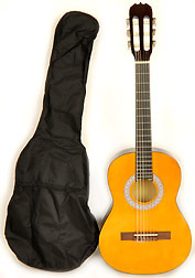 BEGINNER CLASSICAL ACOUSTIC GUITAR 1/2 (Child) SIZE (34 INCH) W/CARRY BAG